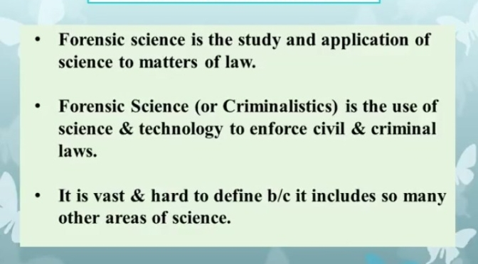 Basics of Forensic Science