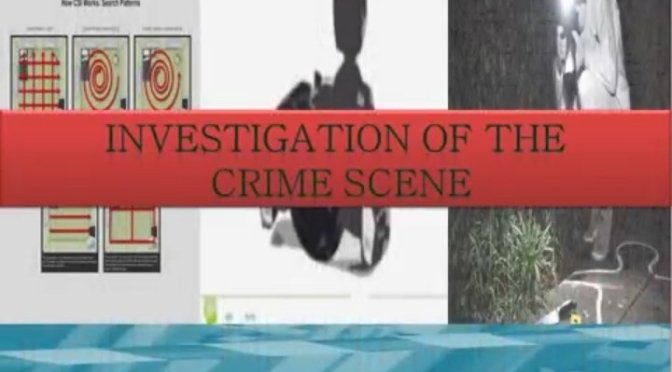 INVESTIGATION OF THE CRIME SCENE