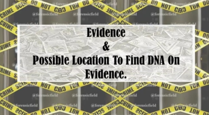 Evidence and Possible Location To Find DNA On Evidence.