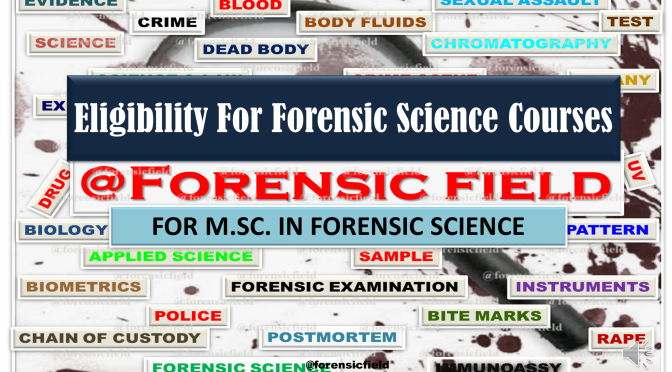 Eligibility For Forensic Science Courses (M.SC.)