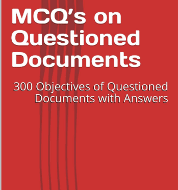 MCQS on FORENSIC SCIENCE (Questioned Document)